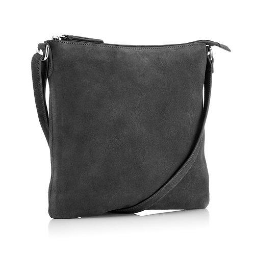 Crossbody bag- Grey Suede