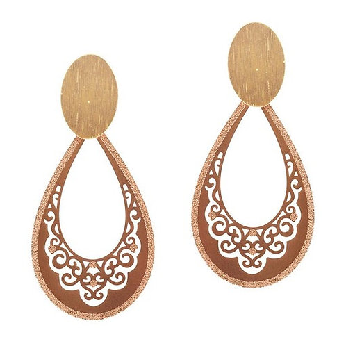 Teardrop Filigree Earrings