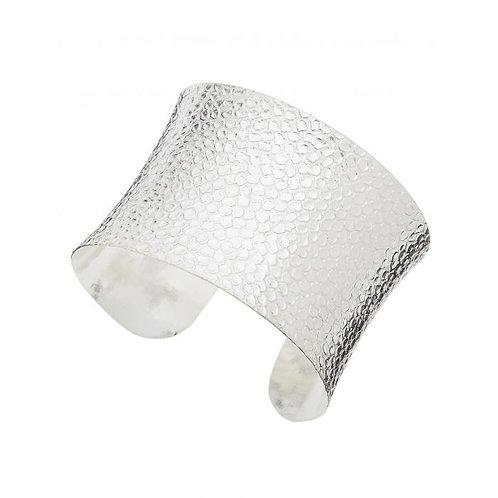 Silver Snakeskin Cuff
