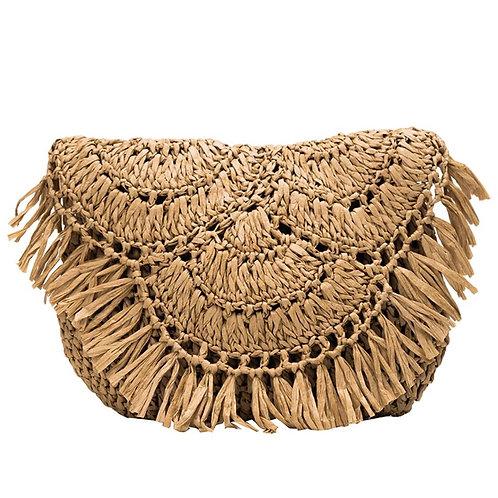 Straw Fringe Bag