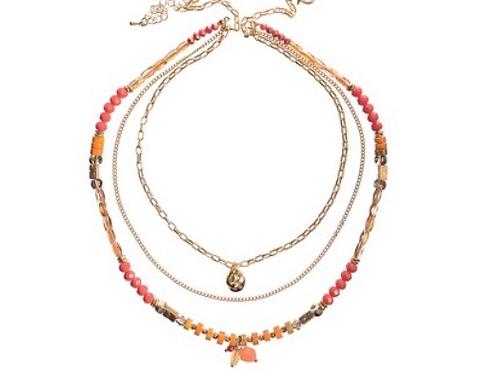 Triple Coral Necklace