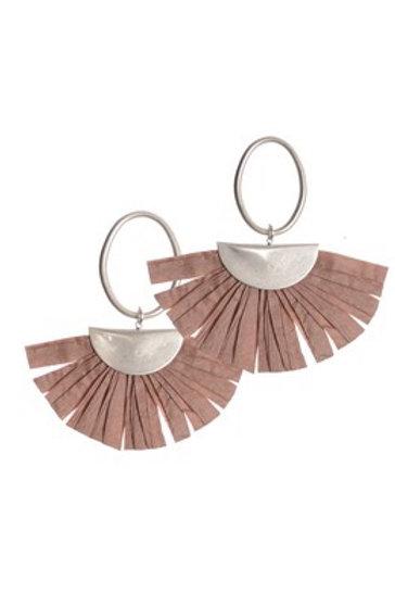 Raffia Fringe Earrings