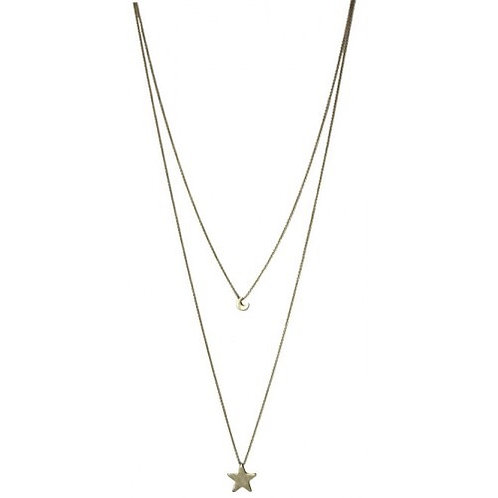 Moon & Star Layering necklace