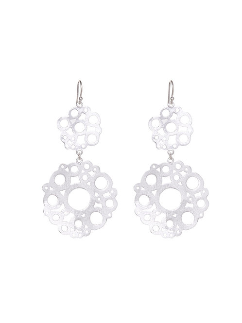 Large Floral Cutout Earrings