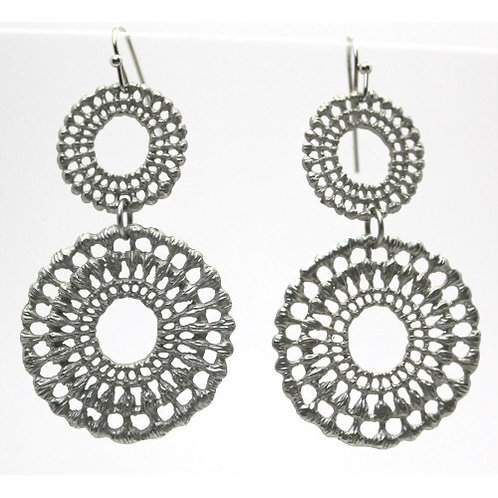Double Circle Lace Earrings