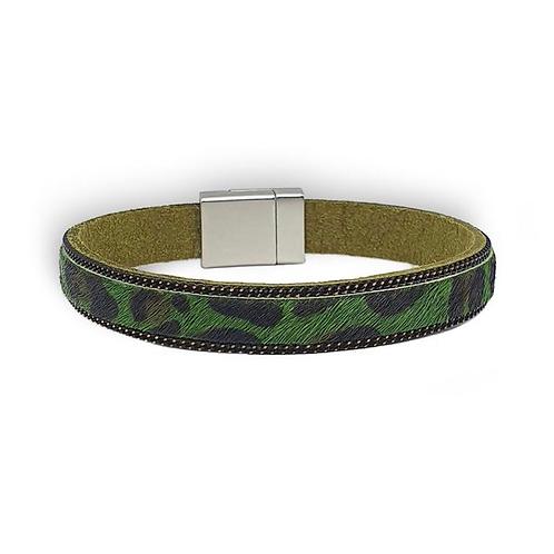 Narrow Leopard print bracelet