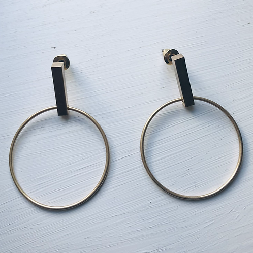 Gina Circle Earrings