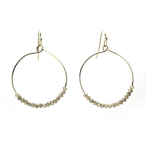 Glass Beaded Round Earrings