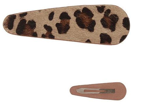 Leopard print hair clip