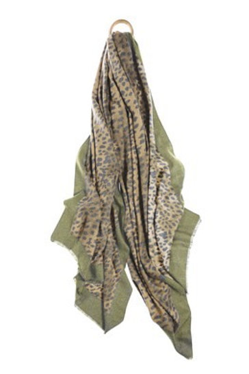 Muted Leopard Scarf