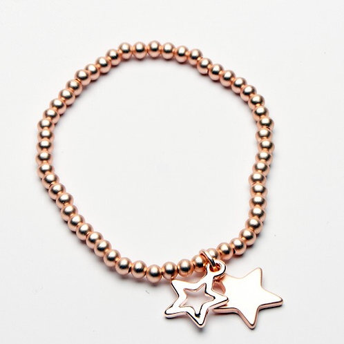 Double Star Charm bracelet