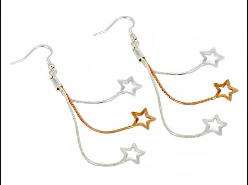 Cascading Star Earrings