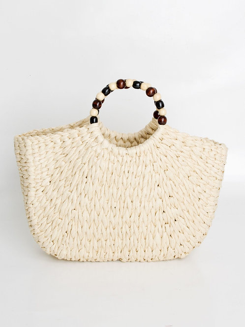 Beaded Handle Bag