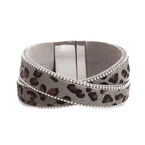 Leopard Crossover Wrap bracelets