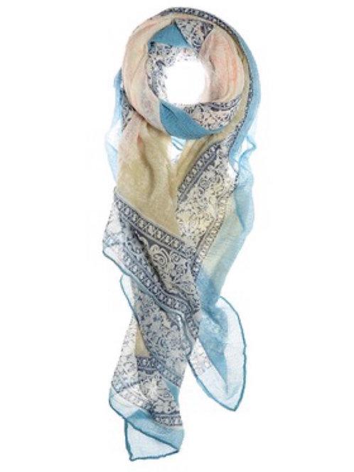 Chiffon Scarf- Blue