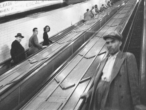 Stanley Kubrick nella metropolitana di new york