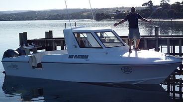 Tasmania' best fishing charter!  Mr Flathead Fishing Tours from Dodges Ferry boat ramp image 5.