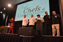Competing Chefs on stage!