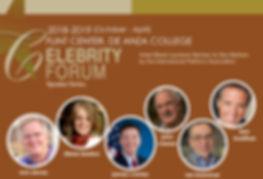 Celebrity Forum 2018-2019