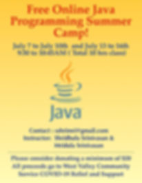 Java Camp Fundraiser!
