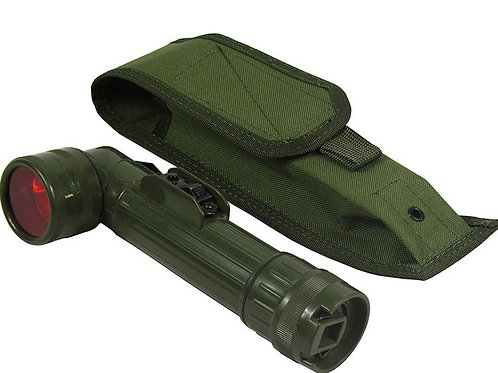 M.O.L.L.E POUCH UNDER THE Army smoke & flashlight olive