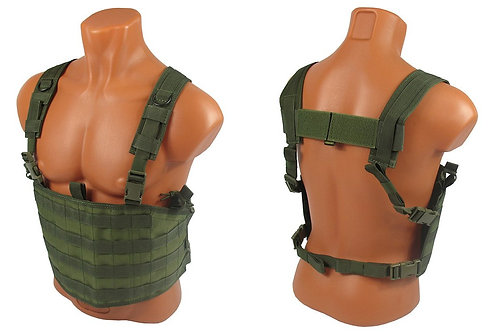 Chest rig airsoft paintball m.o.l.l.e olive green od