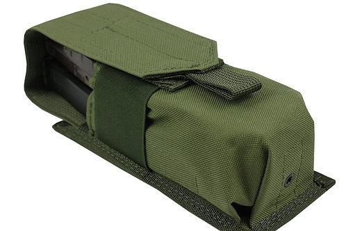 Pouch 2 AK AS VAL AUG BOAR-12 SAIGA-12 100 BALL PAINTBALL  olive
