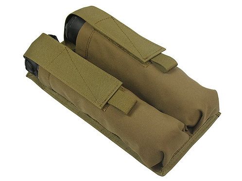 M.O.L.L.E  POUCH FOR TWO TWIN TUBES AT 140-160 BALLS coyote brown