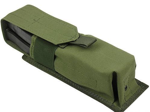 Pouch 2 RPK SAIGA-12 BOAR-12 M.O.L.L.E PAINTBALL TUBE 160 BALL olive