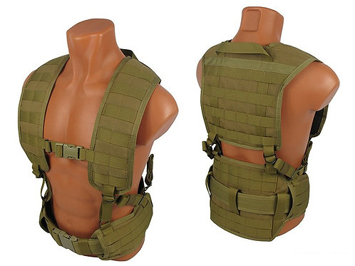 M.o.l.l.e. Chest rig vest airsoft paintball coyote brown