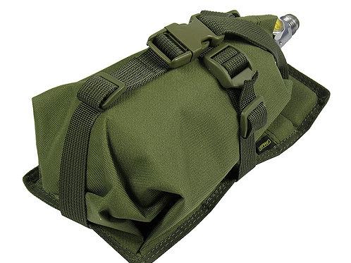 Air Tanks CO2 pouch bag M.O.L.L.E  HORIZONTAL CYLINDER ninja (0,8-1,8L) olive