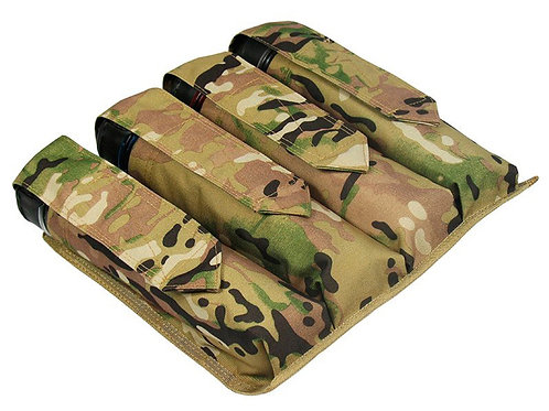 MOLLE  POUCH 4 pods pod ON UNDER THE FOUR TUBES AT 140-160 BALLS paintball