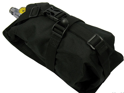 Air Tanks CO2 pouch bag M.O.L.L.E vertical CYLINDER ninja (0,8-1,8L) black
