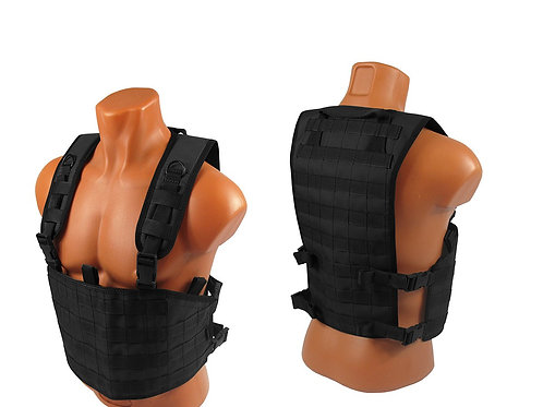 Chest rig airsoft paintball m.o.l.l.e black