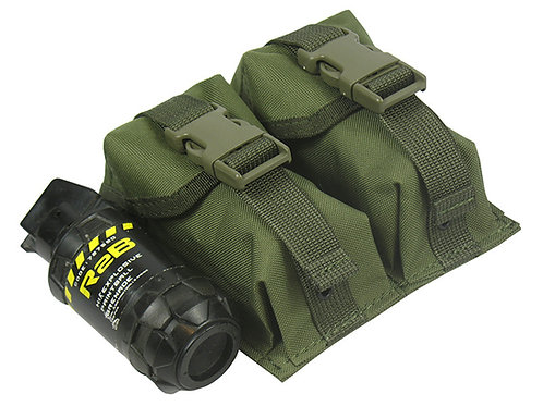 MOLLE POUCH DOUBLE UNDER 2 TWO GRENADES airsoft paitnball