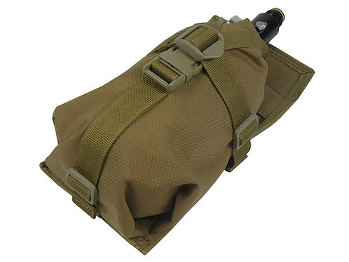 Air Tanks CO2 pouch bag M.O.L.L.E  HORIZONTAL (0,8-1,8L) coyote brown