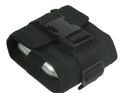 MOLLE POUCH FOR 6 CARTRIDGES OR REFILLS OF CO2 (black)