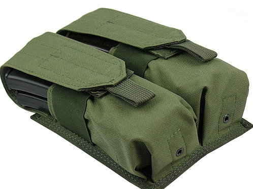 M.O.L.L.E  POUCH ak ak47 ak74 AS VAL saiga-12 AUG Vepr DOUBLE  BY 4 mag  olive