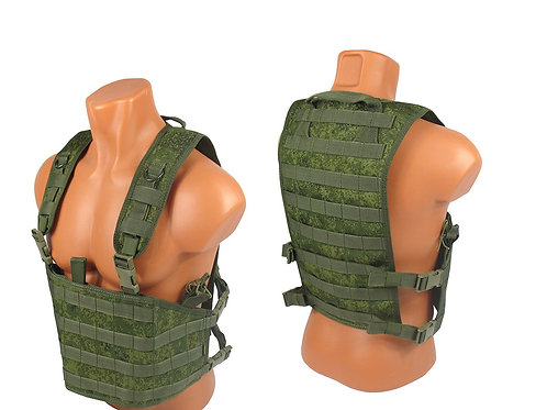 Chest rig airsoft paintball m.o.l.l.e emr pixel