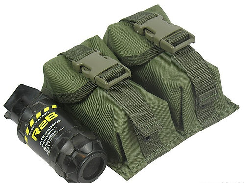 M.O.L.L.E POUCH DOUBLE UNDER TWO GRENADES. MODEL №3 olive