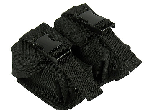 M.O.L.L.E POUCH DOUBLE UNDER TWO GRENADES. MODEL №2 black