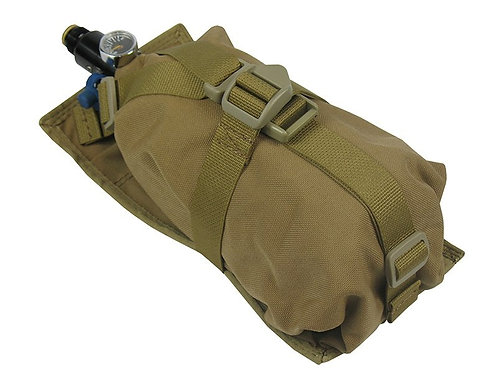 Air Tanks CO2 pouch bag M.O.L.L.E vertical (0,8-1,8L) coyote brown