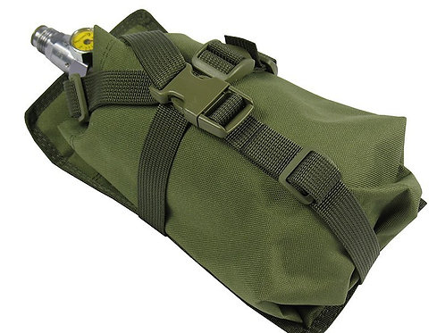 Air Tanks CO2 pouch bag M.O.L.L.E vertical CYLINDER ninja (0,8-1,8L) olive