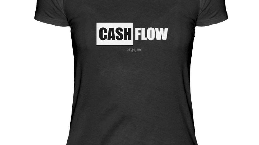 "GELDLIEBE ""CASHFLOW Print b&w""  - Damenshirt"