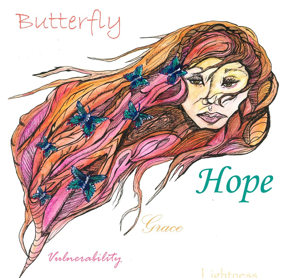 Butterflies represent hope and change