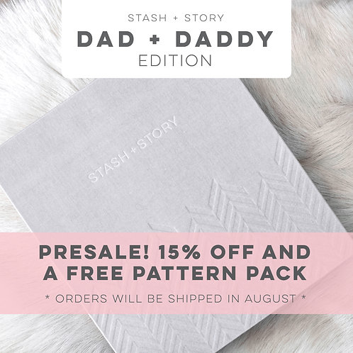DAD + DADDY: STASH + STORY baby book