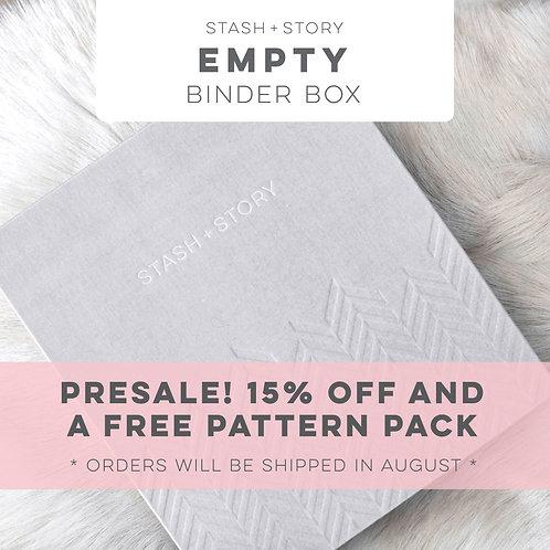 EMPTY STASH + STORY baby book box