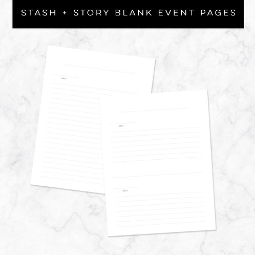 S + S Blank Events Bundle
