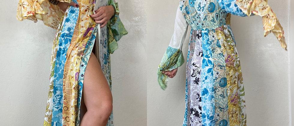 Boho Patchwork Duster Dress/Shawl