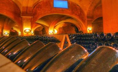 Franciacorta sparkling wine bottles